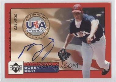 2001 Upper Deck Rookie Update - USA A Touch of Gold Autographs - [Autographed] #Bse - Bobby Seay /500