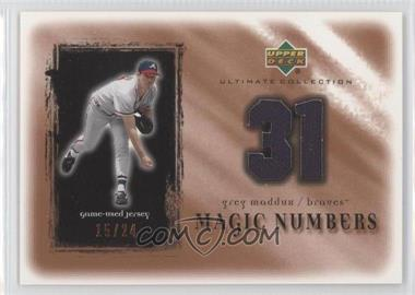 2001 Upper Deck Ultimate Collection - Magic Numbers Jerseys - Copper #MN-GM - Greg Maddux /24