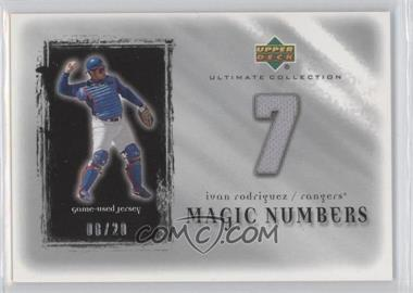 2001 Upper Deck Ultimate Collection - Magic Numbers Jerseys - Silver #MN-IR - Ivan Rodriguez /20