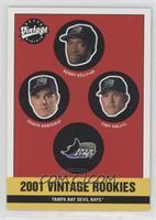 Devil Rays Rookies (Kenny Kelly, Travis Harper, Toby Hall)