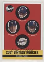 Padres Rookies (Xavier Nady, Tom Davey, Dave Maurer)
