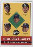 2000 AL Home Run Leaders (Frank Thomas, Troy Glaus, Alex Rodriguez, David Justi…