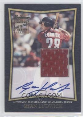 2002 Bowman - Futures Game Autographed Jerseys #FGAJ-RL - Ryan Ludwick