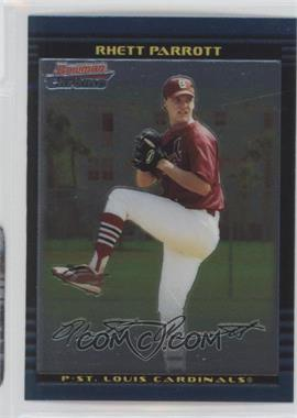 2002 Bowman Chrome Draft Picks & Prospects - [Base] #BDP109 - Rhett Parrott