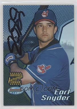 2002 Bowman's Best - [Base] - Blue #175 - Autograph - Earl Snyder