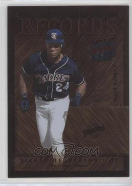 2002 Donruss Best of Fan Club - [???] #R-4 - Rickey Henderson /300