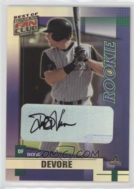 2002 Donruss Best of Fan Club - [Base] - Rookie Autographs [Autographed] #230 - Doug DeVore /1350