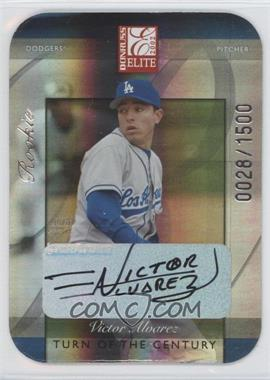 2002 Donruss Elite - [Base] - Turn of the Century Die-Cut Autographs [Autographed] #180 - Victor Alvarez /1500