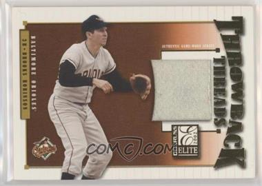 2002 Donruss Elite - Throwback Threads #TT-38 - Brooks Robinson /100