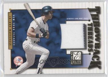2002 Donruss Elite - Throwback Threads #TT-5 - Don Mattingly, Lou Gehrig /50