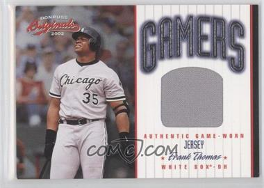 2002 Donruss Originals - Gamers Jerseys #G-32 - Frank Thomas /500