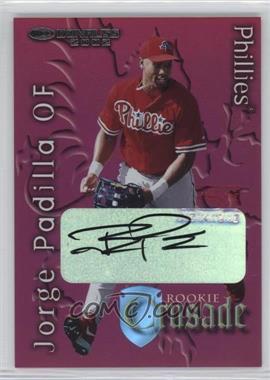 2002 Donruss The Rookies - Crusade - Autographs [Autographed] #RC-35 - Jorge Padilla /475