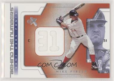 2002 E-X - Behind The Numbers - Jerseys [Memorabilia] #MIPI - Mike Piazza