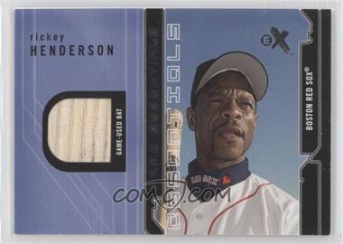 2002 E-X - Game Essentials Jerseys #RIHE.1 - Rickey Henderson (Bat)