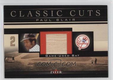 2002 Fleer - Classic Cuts Game-Used - Bats #PB-B - Paul Blair