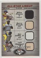 Mike Piazza, Barry Bonds, Ken Griffey Jr., Jeff Bagwell