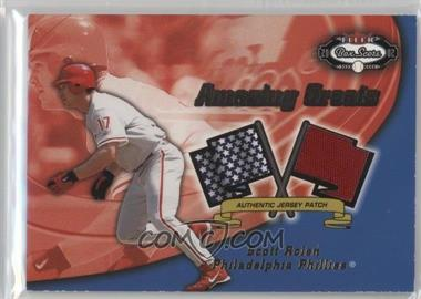 2002 Fleer Box Score - Amazing Greats - Patch [Memorabilia] #SCRO - Scott Rolen /150