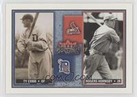 Ty Cobb, Rogers Hornsby