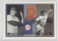 Johnny Mize, Mel Ott #/1,000