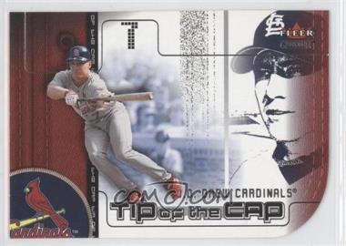 2002 Fleer Genuine - Tip of the Cap #TC 5 - J.D. Drew