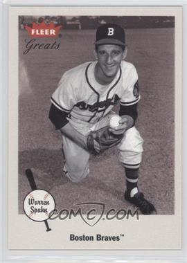2002 Fleer Greats - [Base] #52 - Warren Spahn