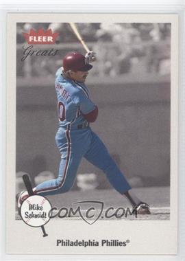 2002 Fleer Greats - [Base] #68 - Mike Schmidt