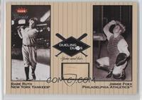 Babe Ruth, Jimmie Foxx Relic