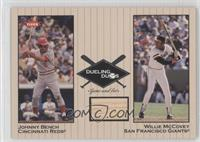 Willie McCovey Relic, Johnny Bench