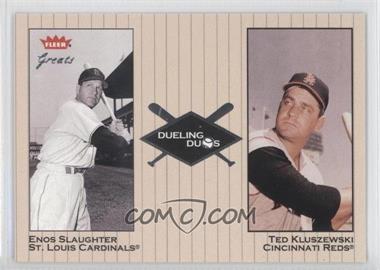 2002 Fleer Greats - Dueling Duos #25 DD - Enos Slaughter, Ted Kluszewski