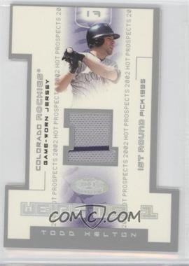 2002 Fleer Hot Prospects - We're No. 1 - Game-Worn Jersey #WN-TH - Todd Helton