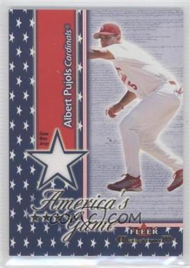 2002 Fleer Maximum - America's Game - Game-Worn Jersey [Memorabilia] #ALPU - Albert Pujols