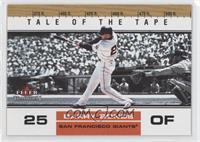 Tale of the Tape - Barry Bonds