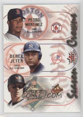 2002 Fleer Triple Crown - Season Crowns #4SC - Pedro Martinez, Derek Jeter, Cal Ripken Jr.