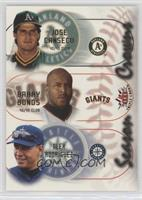 Barry Bonds, Alex Rodriguez, Jose Canseco