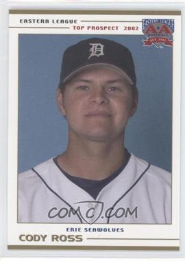 2002 Grandstand Eastern League Top Prospects - [Base] #CORO - Cody Ross