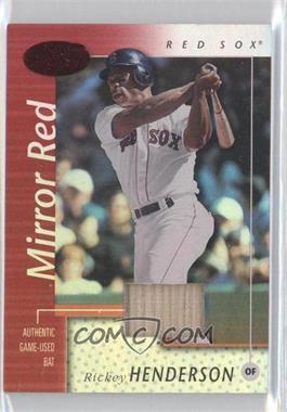 2002 Leaf Certified - [Base] - Mirror Red Materials [Memorabilia] #126 - Rickey Henderson /150