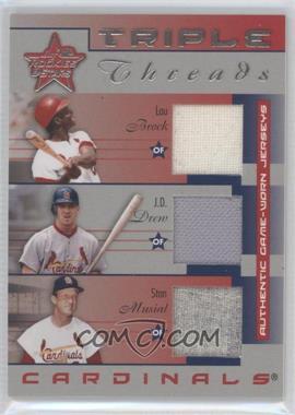 2002 Leaf Rookies And Stars - [???] #TT-10 - Lou Brock, J.D. Drew, Stan Musial