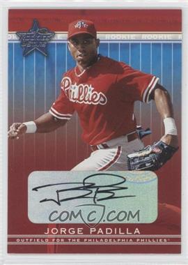 2002 Leaf Rookies And Stars - [Base] - Signatures [Autographed] #329 - Jorge Padilla