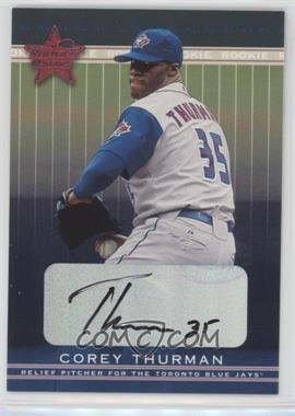 2002 Leaf Rookies And Stars - [Base] - Signatures [Autographed] #341 - Corey Thurman