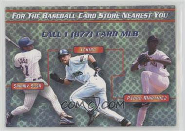 2002 MLB.com Information Card - [Base] #SSMJPJ - Sammy Sosa, Ichiro Suzuki, Pedro Martinez, Randy Johnson, Mike Piazza, Derek Jeter