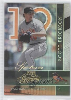 2002 Playoff Absolute Memorabilia - [Base] - Spectrum #19 - Scott Erickson /100