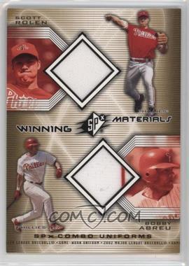 2002 SPx - Winning Materials Combo Jerseys #WM-RA - Scott Rolen, Bobby Abreu
