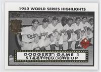 Pee Wee Reese, Duke Snider, Jackie Robinson, Roy Campanella, Gil Hodges, Billy …
