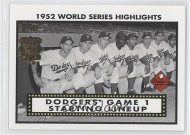 2002 Topps - 1952 World Series Highlights #52WS-1 - Pee Wee Reese, Duke Snider, Jackie Robinson, Roy Campanella, Gil Hodges, Billy Cox, Andy Pafko, Carl Furillo