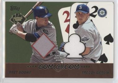 2002 Topps - 5 Card Stud Relics - Deuces are Wild #5D-BG - Bret Boone, Freddy Garcia