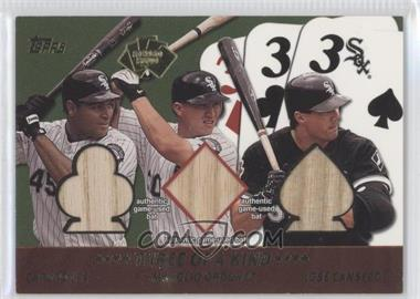 2002 Topps - 5 Card Stud Relics - Three of a Kind #5T-5 - Carlos Lee, Magglio Ordonez, Jose Canseco