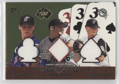 2002 Topps - 5 Card Stud Relics - Three of a Kind #5T-BDB - A.J. Burnett, Ryan Dempster, Josh Beckett
