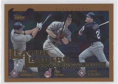 2002 Topps - [Base] #339 - Alex Rodriguez, Jim Thome, Rafael Palmeiro
