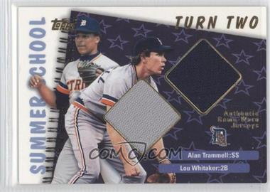 2002 Topps - Summer School Relics - Turn Two #TTR-TW - Alan Trammell, Lou Whitaker