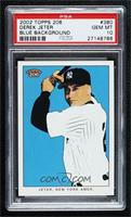 Derek Jeter (Solid Blue Background) [PSA 10 GEM MT]